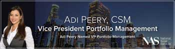 Adi Peery Named Vice President Portfolio Management